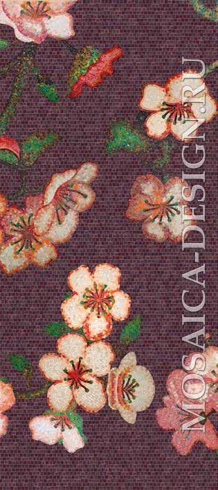 Bisazza панно из мозаики Decorations Flora ACVT165