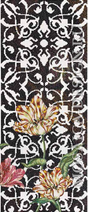 Bisazza панно из мозаики Decorations Flora ACVT166