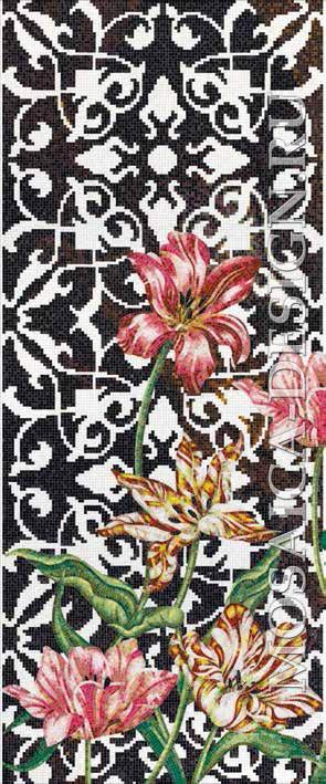 Bisazza панно из мозаики Decorations Flora ACVT166