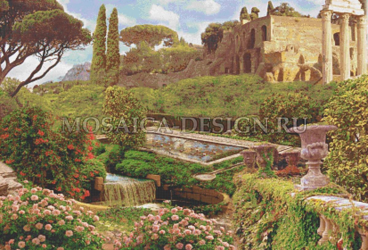 Мозаичное панно из мозаики для гостиной AF_3-008