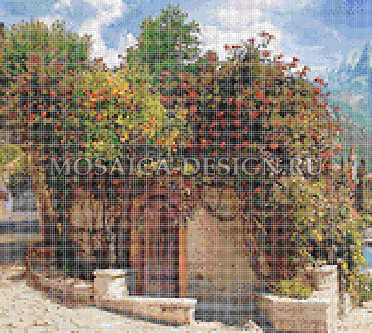 Мозаичное панно из мозаики для прихожей AF011