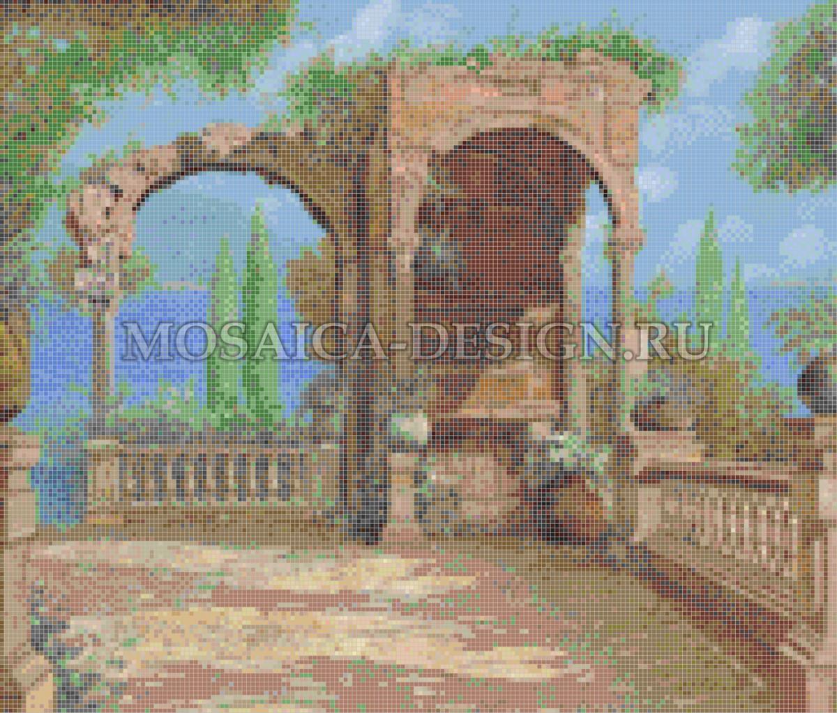 Мозаичное панно из мозаики для интерьера AF016
