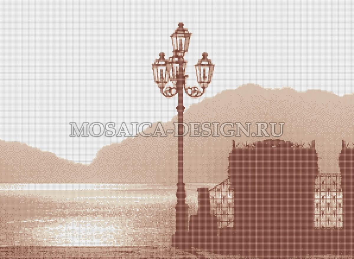Мозаичное панно из мозаики для гостиной AF021