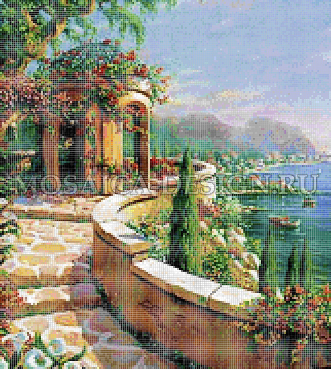 Мозаичное панно для помещения бассейна AF023