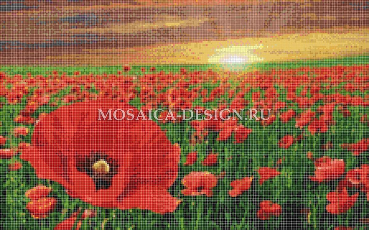 Мозаичное панно для ванной Цветвы MCVT004