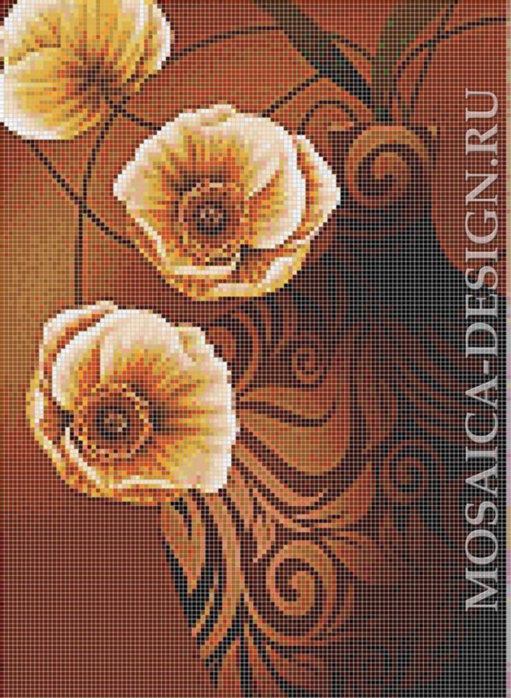 Мозаичное панно для ванной Цветвы MCVT008