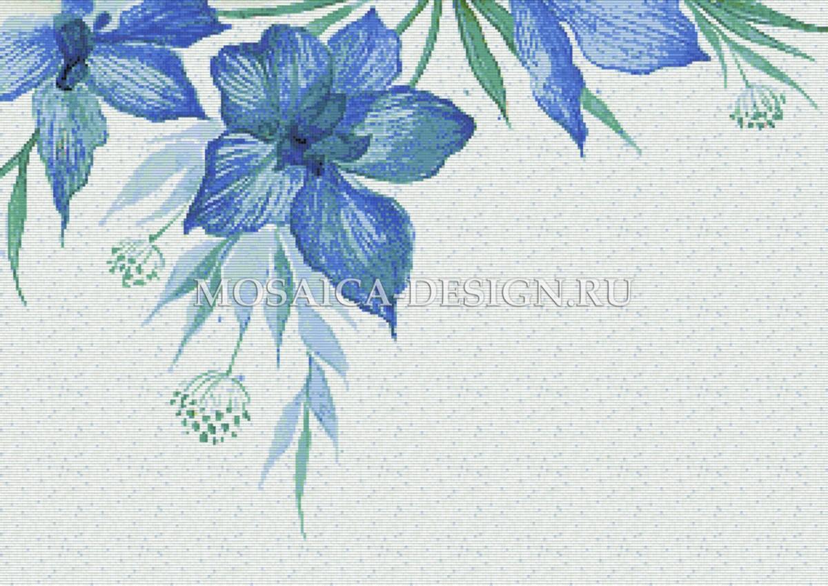 Мозаичное панно для ванной Цветвы MCVT034