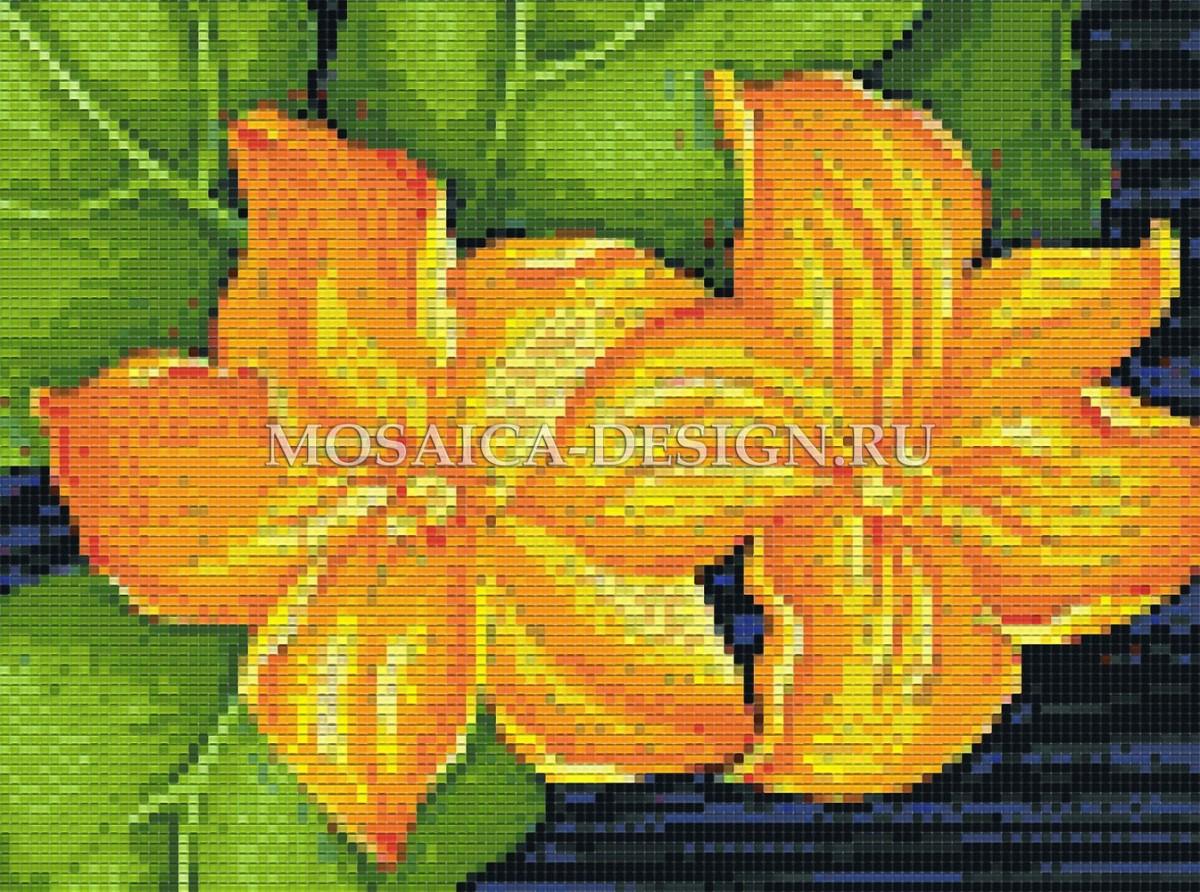 Панно из мозаики для ванной Цветы MCVT059