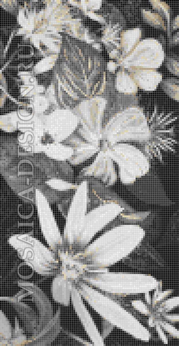 Панно из мозаики для ванной Цветы MCVT079