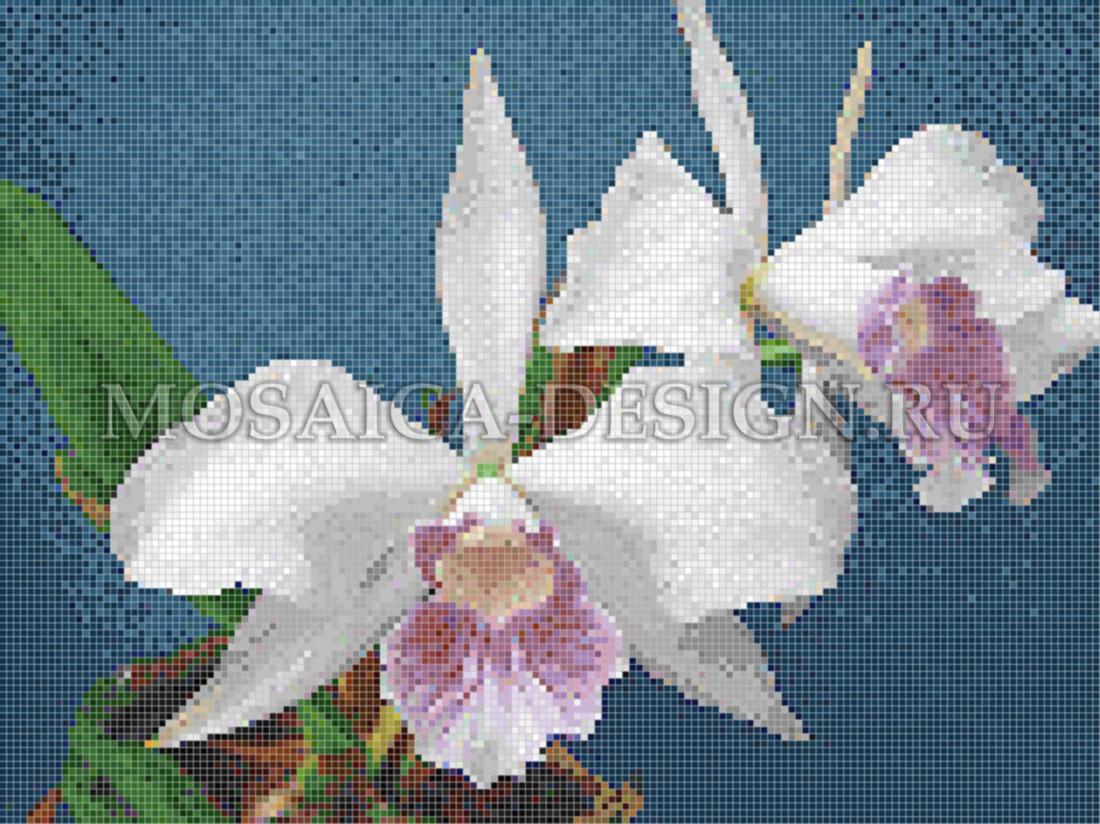 Панно из мозаики для ванной Цветы MCVT085