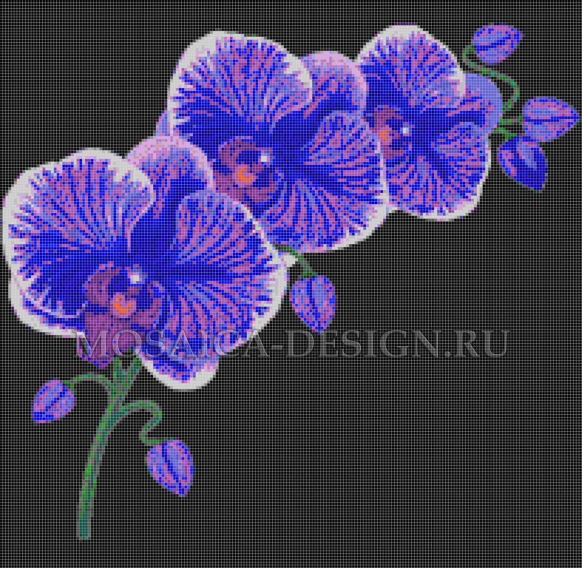 Панно из мозаики для ванной Цветы MCVT087