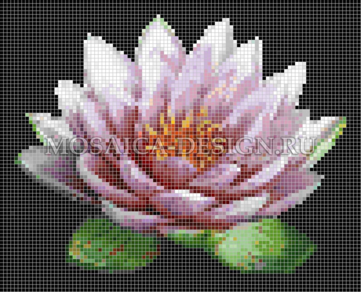 Панно из мозаики для ванной Цветы MCVT090