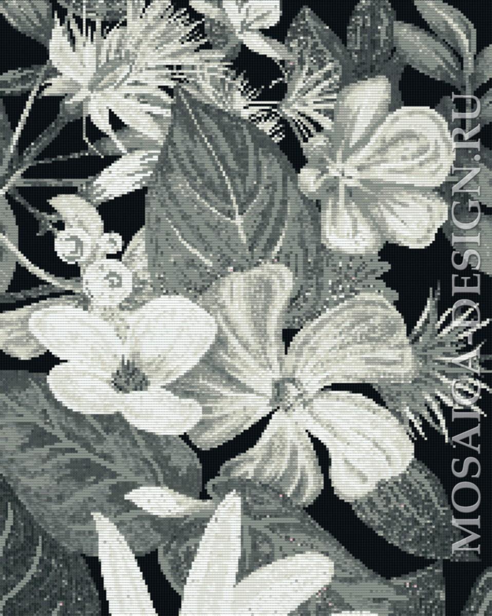 Мозаичное панно для ванной Цветвы MCVT177