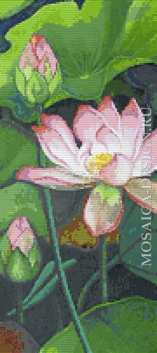 Мозаичное панно для ванной Цветвы MCVT183