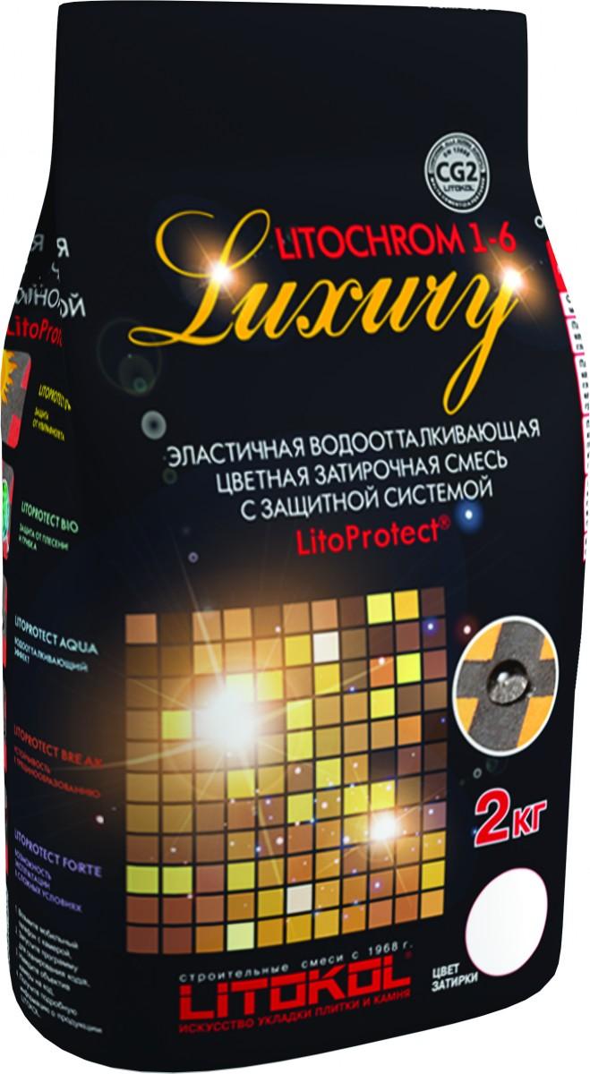 Цементная затирка для мозаики Litochrom 1-6 Luxury 2 кг